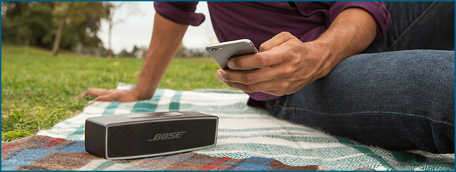 Enceinte Bluetooth compatible avec Siri